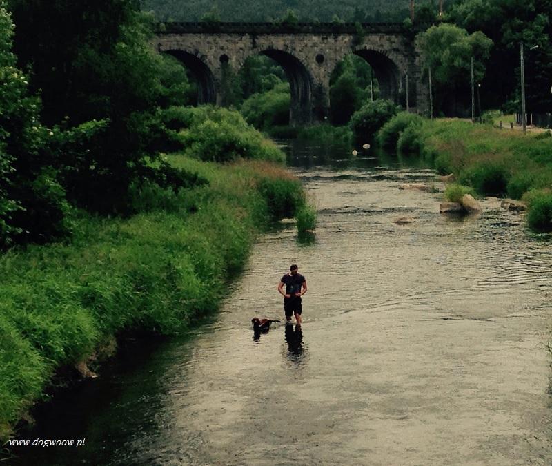 spacer po wodzie